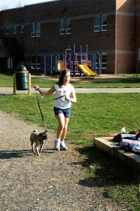 running 5K's and walking the coach's dog, all before the bell rang