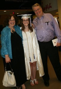 My high school graduation, one of the happiest days of my life